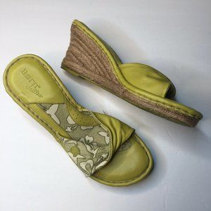 B.O.C. Born Concepts 9 lime green wedges sandals